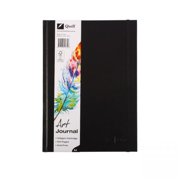 Art Journal Quill A4 Hardcover 125gsm 60 Leaf