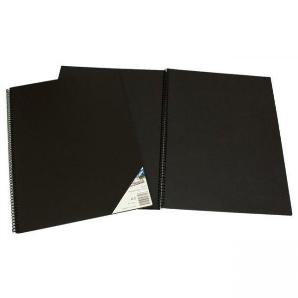 Visual Diary Quill A3 45 Leaf 110gsm Black Paper (FS)