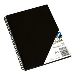 Visual Diary Quill A5 45 Leaf 110gsm Black Paper (FS)