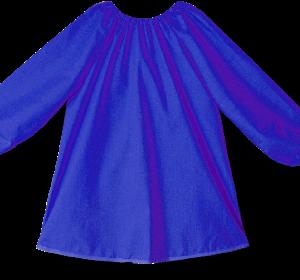Art Smock Long Sleeve 80cm Royal Blue