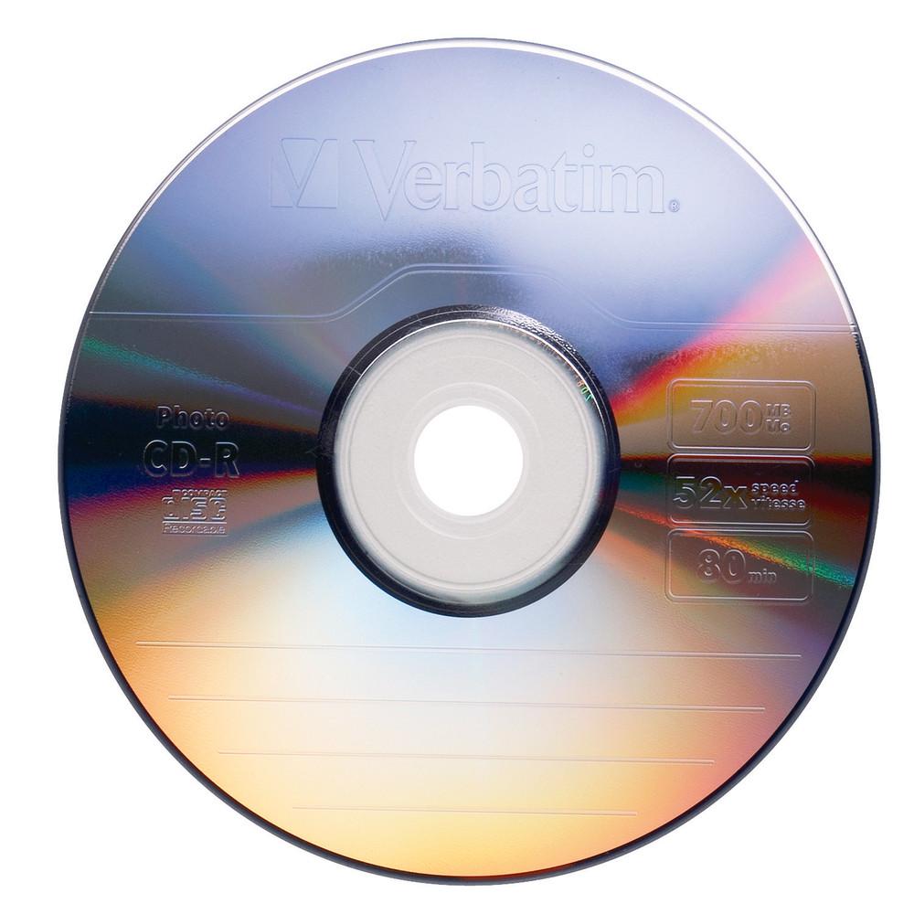 CD-R Verbatim 80min Jewel Case 700MB 52x Single