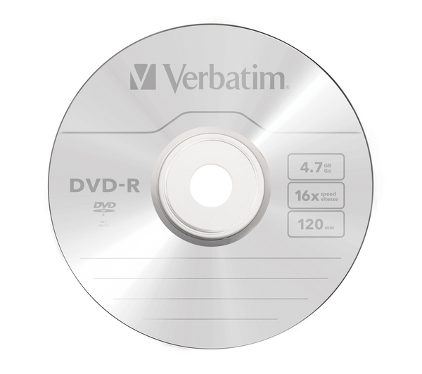 DVD-R Verbatim 4.7GB Jewel Case 16x Single