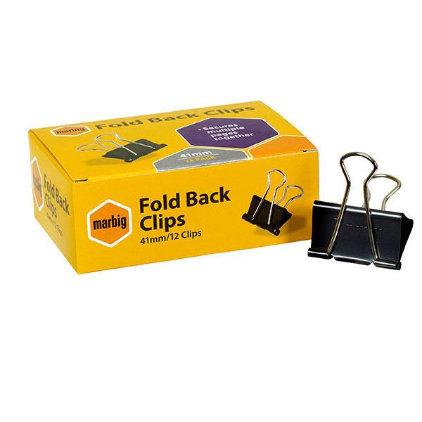 Fold Back Clips 41mm Bx12 (FS)
