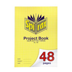 Project Book Spirax A4 48 Page 18mm Dotted Thirds