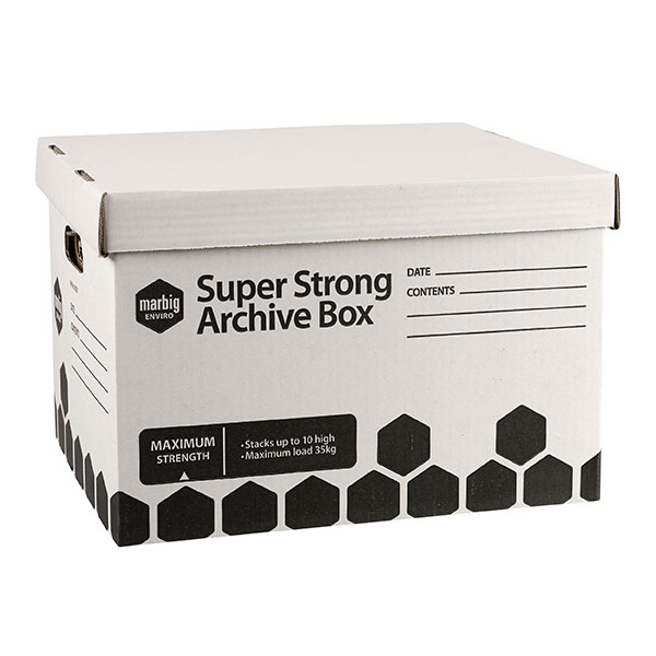 Archive Box Marbig Super Strong Single (FS)