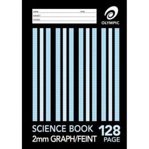 Science Bk A4 128 Page 2mm Feint Graph