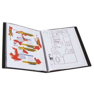 Display Book Marbig A3 20 Inserts Black With Insert Cover (FS)