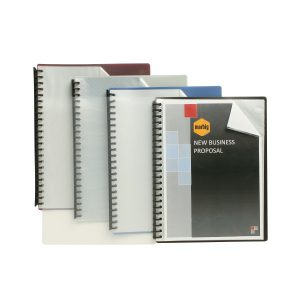 Display Book A4 20 Inserts Clear Front Black