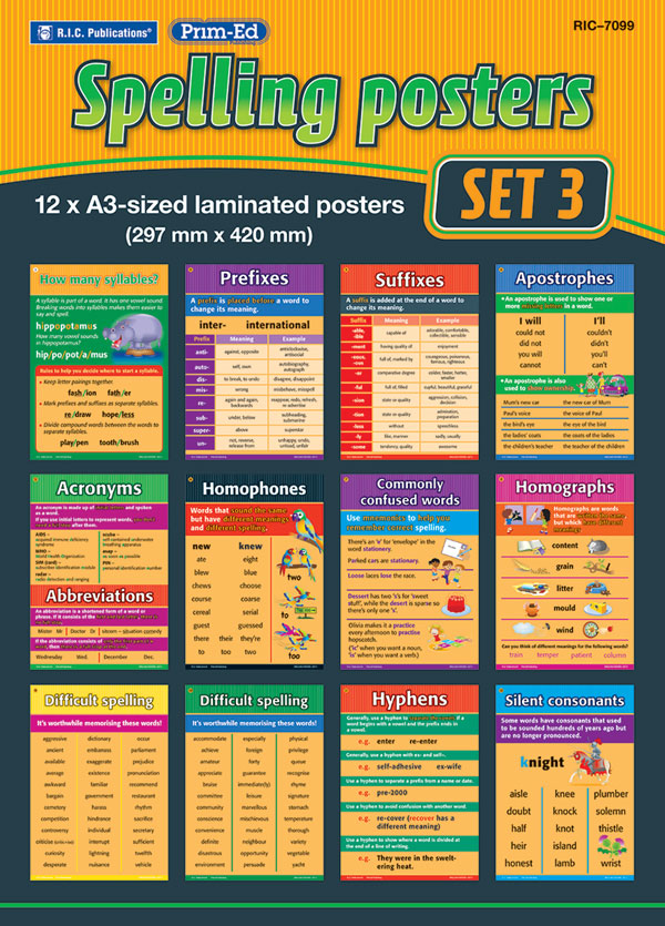 Spelling Rules Posters – Set 3