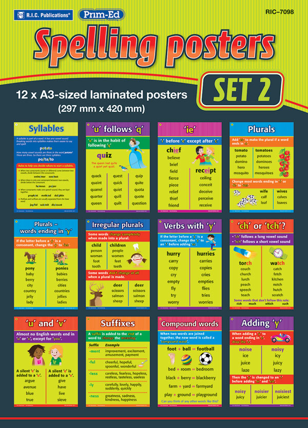 Spelling Rules Posters – Set 2
