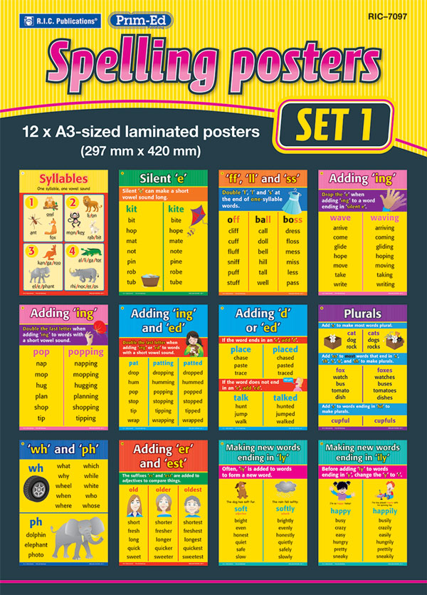 Spelling Rules Posters – Set 1