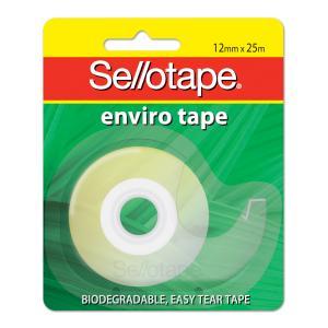 Tape Sticky Sellotape Enviro Dispenser 12mm x 25M (FS)