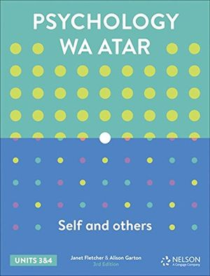 Psychology WA ATAR: Self and Others Units 3&4 Student Book 3rd Ed
