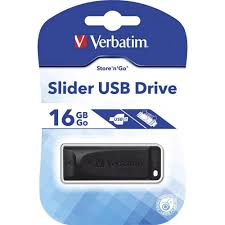 USB Thumbdrive Verbatim Slider 16GB