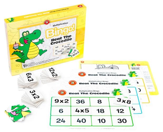 Beat the Crocodile Multiplication Bingo