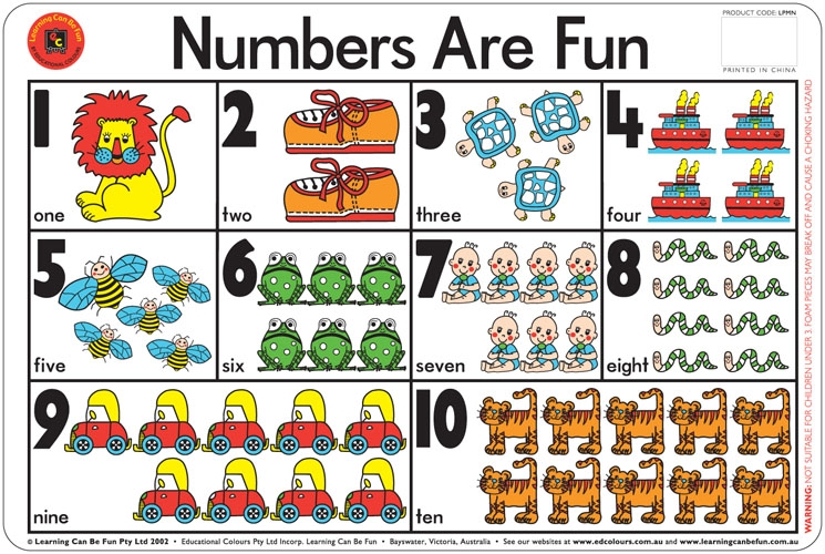 Numbers Are Fun Placemat