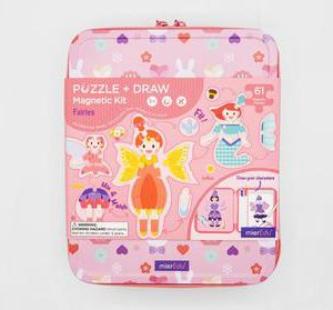 Puzzle and Draw Magnetic Kit - Fairies
