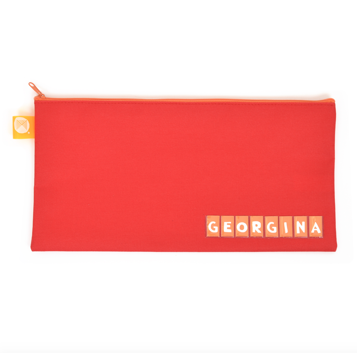 Pencil Case Name Micador 340x170mm Red