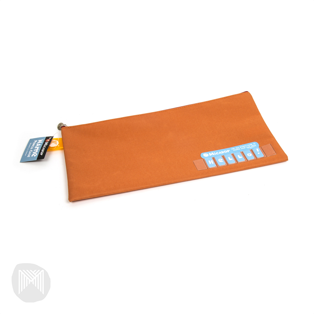 Pencil Case Name Micador 340x170mm Orange