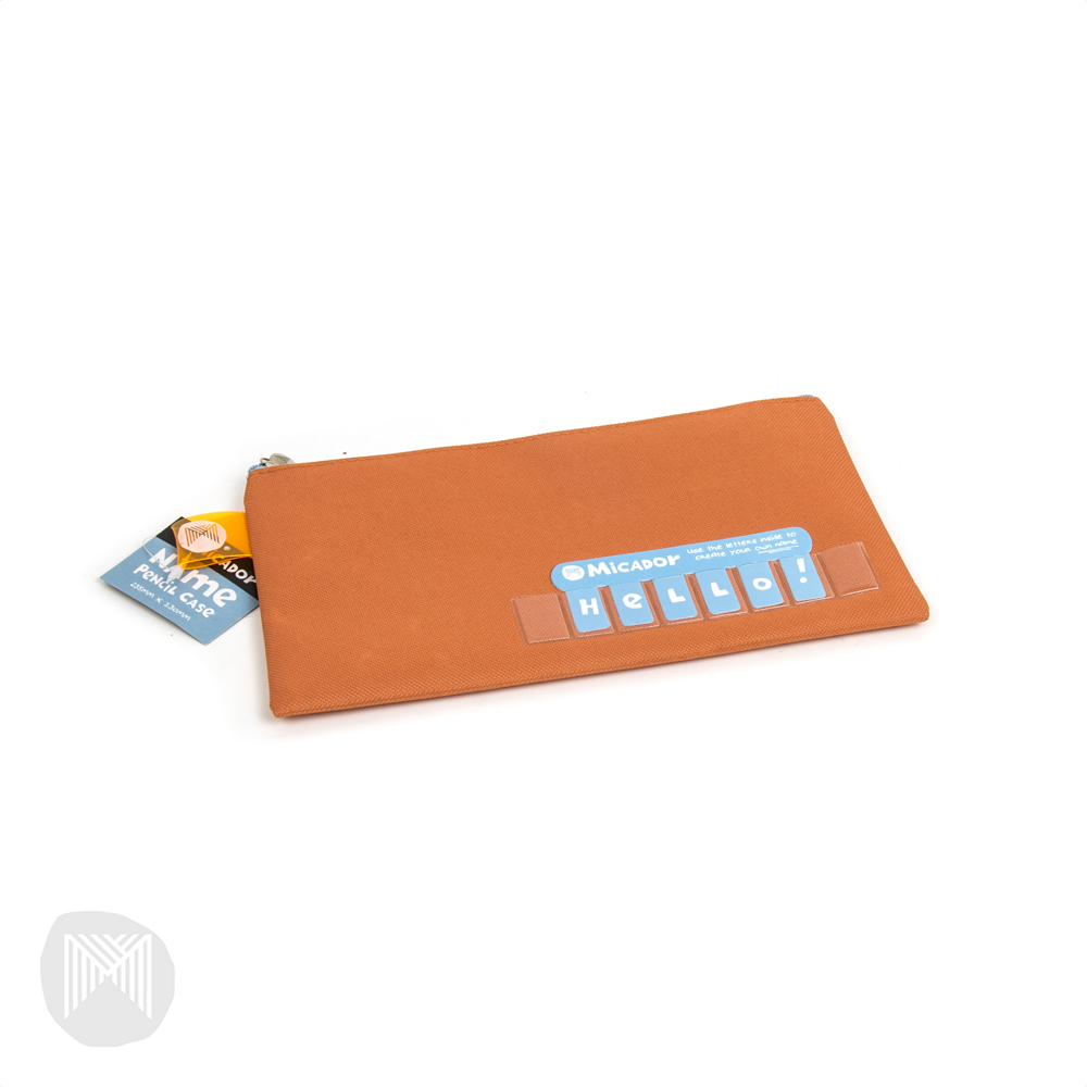Pencil Case Name Micador 235x130mm Orange