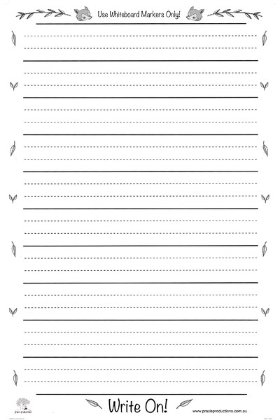 Write On Chart Dotted Thirds Laminated 100cm x 63.5cm