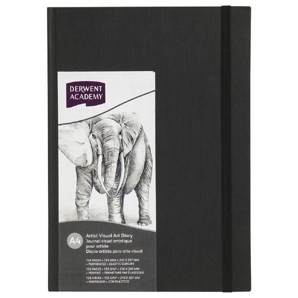 Visual Diary Derwent A5 140gsm 128pg Casebound Hard Cover Portrait (FS)