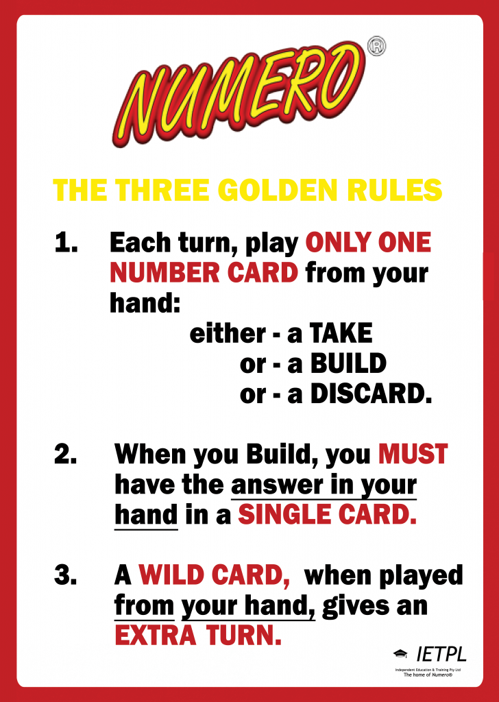 Numero Rules Poster