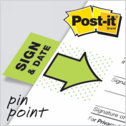 Flags Post-It 680-SD2 Sign & Date Pkt100 (FS)