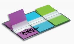 Flags Post-It 680-PBG Purple/Blue/Green Pkt60 (FS)