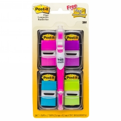Flags Post-It 680-PPBGVA Value Pack + Highlighter (FS)