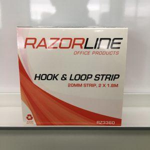 Razorline Velcro Hook & Loop Strip 20mm x 1.8M