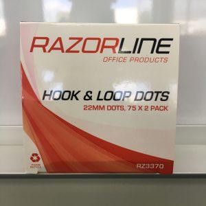 Razorline Velcro Hook & Loop Dots 22mm Pack 75 Dots (FS)