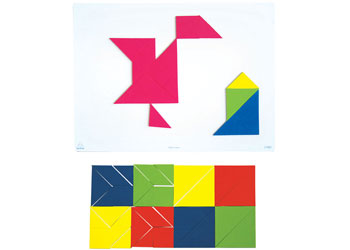Magnetic Tangram 4 sets – 28 pieces