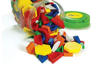 Pattern Blocks Hollow Plastic - 500 piece