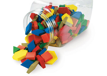 Pattern Blocks Foam – 250 pieces in Jar