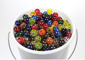 Rainbow Beads – 1000 Pieces in Plastic Container