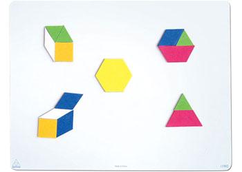 Magnetic Pattern Blocks Foam Regular – 49 pieces