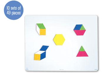 Magnetic Pattern Blocks 49pc – 10 Sets