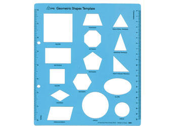 Template Geometric Shapes Blue - Each