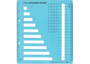 Coloured Rods Template – 19.7×22.5cm