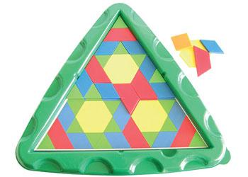 Pattern Blocks Tray Triangular